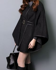 Wrap Black Wool Coat - The Scandal Collection holiday -  #women,  #plus size