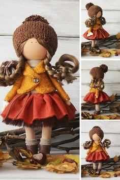 Autumn doll Handmade Cloth doll Art doll Fabric doll Interior doll unique magic doll by Master Margarita Hilko