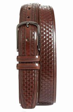 Men's Mezlan 'Ascot' Leather Belt