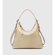 Gucci Miss Gg Leather Hobo (£865) ❤ liked on Polyvore featuring bags, handbags, shoulder bags, oatmeal, hobo shoulder bag, leather shoulder handbags, leather purse, gucci purses and genuine leather purse