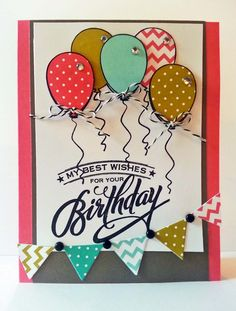 A Muse Studio birthday promotion stamp set. Hooray it's Your Day. Free when you host a qualifying workshop in May 2014.  New balloon die set now available for only $6.99.