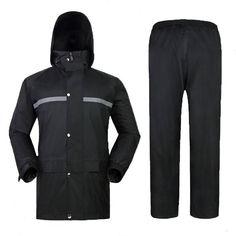 Outdooors Rain Coat Suit Thicken Waterproof With Reflective Strip For Outdooors Activities