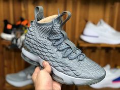 3d782e116db Nike LeBron 15 EP City Edition Wolf Grey Metallic Gold 897649-005-1. Tina  Jordan