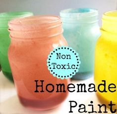 FacebookTwitterGoogle+PinterestStumbleUponPrintE-mail We love crafting with our children and we are constantly looking for fun, new ways to do some of old favorites. Making our own paint is such a fun thing to do. You can create all kinds of colors that appeal to everyone and then paint whatever your heart desires. HOMEMADE PAINT RECIPE SUPPLIES: 1 cup salt 1 cup flour 1 1/2 cups water Food coloring DIRECTIONS: Begin by mixing together your salt flour ...