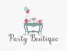 Logo de Boutique Logo Diseño niños Logo niños fiesta