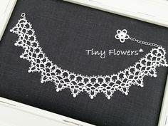 ちいさなお花のピアス の画像|Tiny Flowers* にゃんことてしごと ~猫とタティングレース~