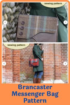 The Brancaster messenger bag traces its roots to the 1940s. Heavily inspired by fishermen bags, this little package of convenience has grown to become a fashion statement that is highlighted by its asymmetrical flap and an easily accessible front pocket. Brancaster messenger bags are popular for their practicality and convenient size, which is perfect for the everyday woman looking for a stylish bag to stash toiletries. #messengerbagpattern#sewingpattern#bagpattern#sewingbagpatterns Messenger Bag Patterns, Messenger Bags, Creative Outlet, Kids Bags, Looking For Women, 1940s, Roots, Sewing Patterns, Satchel
