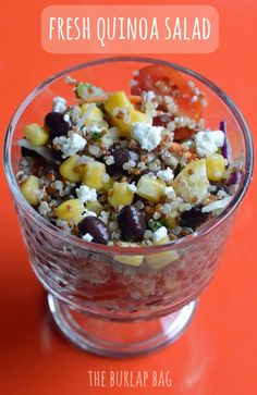 Fresh Quinoa Salad. Yum. Via: http://www.theburlapbag.com/2012/05/fresh-quinoa-salad-recipe/