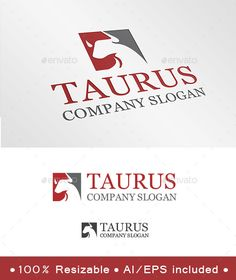 Taurus  Logo Design Template Vector #logotype Download it here: http://graphicriver.net/item/taurus-logo/9240971?s_rank=1272?ref=nexion