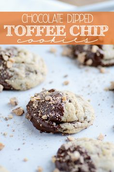 These cookies are chock-full of toffee and chocolate, and dipped in MORE chocolate just for good measure!