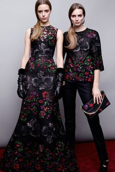 Elie Saab Pre-Fall 2015: Jessica Chastain (L) & Rosario Dawson (www.ifiwasastylist.blogspot.com)