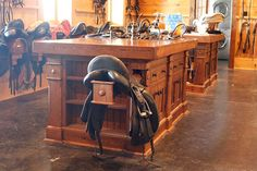 Saddle drawer slides is one of the cool features incorporated into our tack islands