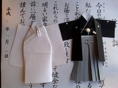 Hand-maid Origami Japanese Traditional Wedding Clothing on welcome table.
