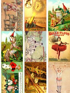 Vintage Circus http://www.etsy.com/listing/69796879/digital-collage-sheet-293-25x35-inch