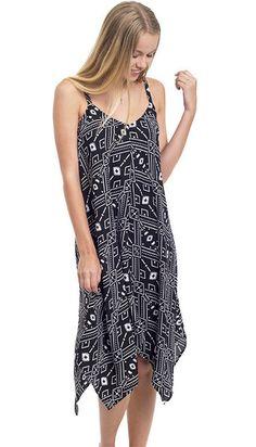 Aztec Geo Printed Trapeze Slip Dress
