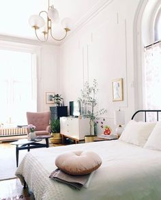 bright, airy post neutral color palette | contemporary | interior design inspiration | modern living | simple | simplistic | greys | inviting | diy | casual style | home | house | room | classy | chic | inviting | white | clean | girly | fresh | plants | green |