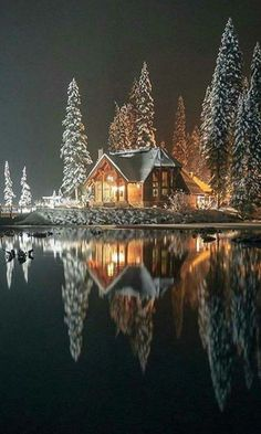 Emerald Lake, Yo ho National Park, Canada Beautiful World, Beautiful Homes, Beautiful Places, Pato Animal, Canada National Parks, Emerald Lake, Winter Scenery, Cabins And Cottages, Snow Scenes