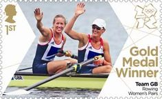 Helen Glover & Heather Stanning Rowing Women's Pairs from 2012 'Gold Medal Winners London Olympic Games' Olympic Rowing, Women's Rowing, Royal Mail Stamps, Uk Stamps, Postage Stamps, Team Gb Olympics, Summer Olympics, Helen Glover, London Olympic Games