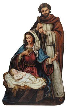 Gods Love Nativity Scene Plaque By Artist Michael Adams