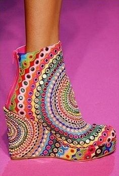 rainbow shoe - crazy!