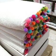 pompom trim towel - Google Search