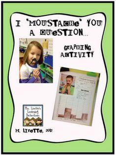 "Classroom Freebies Too: I ""moustache"" you.do you want a free graphing activity? Classroom Freebies, Math Classroom, Kindergarten Math, Classroom Ideas, Classroom Language, Classroom Organization, Student Teaching, Math Teacher, Teaching Ideas"