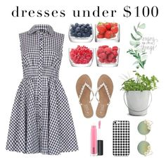 """""""Dresses Under $100"""" by juliannasstyles ❤ liked on Polyvore featuring Izabel London, LSA International, M&Co, MAC Cosmetics, Full Tilt and Potting Shed Creations"""