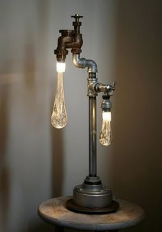 We think our plumber friends will really enjoy this pipework table lamp...