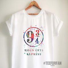 Harry Potter Shirts Harry Potter Merchandise Hogwarts Express Platform 9 3/4 T Shirts Clothes Apparel Top Tee for Women Girls Men