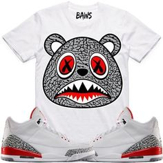 260de36ed706 Elephant Baws Sneaker Tees Shirt - Jordan Retro 3 Katrina