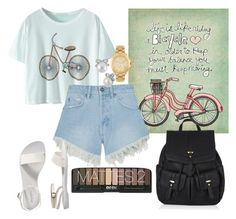 """""""Bicycle"""" by katarinaax ❤ liked on Polyvore featuring Nana Judy, Old Navy, Accessorize, Michael Kors and Betsey Johnson"""