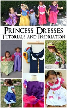 The Best Princess Dress Tutorials and Inspiration! - How to make princess sleeves, bustles, corsets and more. Great Princess dress tutorials - Rae Gun Ramblings -- There`s a WHOLE LOT of LINKS in the Post! Princess Dress Tutorials, Princess Dress Patterns, Princess Dress Up Clothes, Disney Dresses, Disney Outfits, Kids Outfits, Princess Costumes, Girl Costumes, Halloween Costumes