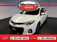 2014 Toyota Corolla LE 33k miles $16,680 33634 miles 281-407-9523  #Toyota #Corolla #used #cars #MikeCalvertToyota #Houston #TX #tapcars