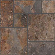 FLOORS 2000 7-Pack Autumn Leaf Glazed Porcelain Indoor/Outdoor Floor Tiles (Common: 18-in x 18-in; Actual: 17.71-in x 17.71-in)