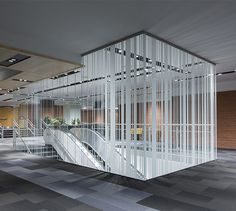 LEMAYMICHAUD | Quebec | Conference Hall | Architecture | Design | Seating | Carpet | Architectural glass | Black | Gray | White | Graphic design | Stair