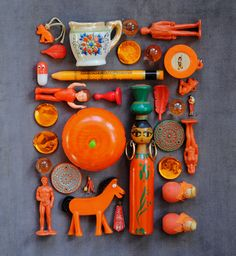 orange collage A collection of objects , could be inspiration for GCSE question Arrangements Collections Of Objects, Displaying Collections, Orange You Glad, Orange Is The New, Collages, Things Organized Neatly, Color Naranja, Found Object Art, Photocollage