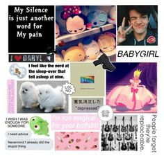 """""""~ Just A Random Set About Me ~"""" by lildinokitten ❤ liked on Polyvore featuring art"""