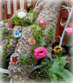 2 Bags Full - My adventures in travel, knitting, and the blessings of my every day life.: The last Blooms of Summer--(introcucing my new knitted wrap collection)