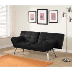 Mainstays Contempo Tufted Futon Couch, Multiple Colors, Black Futon Sofa Bed, Futon Mattress, Tufted Sofa, Pillows, Cama Futon, Twin Futon, Cheap Bed Linen, Small Futon, Furniture