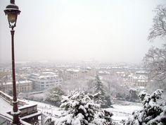 Paris sous la Neige - Les Toits vus de Montmartre