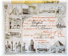 Cook's ticket for round trip excursion 1893