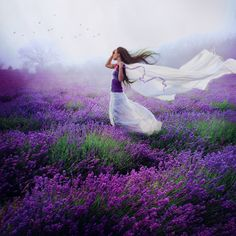 Walks through fields of lavender swept her away to a glorious place where dreams are made.