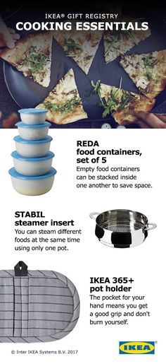 Throw out the take-out menus! You'll want to eat in every night with these kitchen essentials. Add cooking essentials like knife sets, frying pans and food containers to your IKEA Wedding Gift Registry! Kitchen Items, Kitchen Gadgets, Kitchen Products, Kitchen Hacks, Kitchen Tools, Kitchen Appliances, Kitchen Essentials, Cooks Essentials, Ikea Wedding