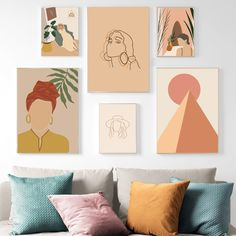"""""""Geometric Abstract Girl Fashion Vintage Wall Art Canvas Painting Nordic Posters And Prints Wall Pictures For Living Room Decor"""" Modern Vintage Decor, Vintage Wall Art, Vintage Walls, Geometric Wall Art, Abstract Wall Art, Living Room Pictures, Wall Pictures, Painting Of Girl, Wall Art Decor"""