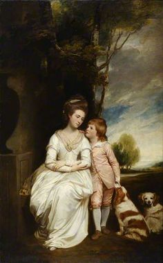 Anne, Countess of Albemarle, and her son William Charles(later the 4th Earl of Albemarle) by George Romney. 1777–1779 Her husband was General George Keppel, 3rd Earl of Albemarle.