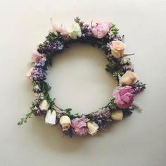 A Joyful Journey Floral Headdress, Happy 30th, Wedding Flowers, Floral Wreath, Wreaths, Bridal, Rose, Plants, Flower Crowns