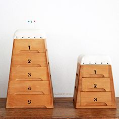 桐製 跳び箱小物入れ5段 積上げタイプ
