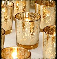 Perfect wedding decorations that add a stunning look to your wedding table décor with these David Tutera™ mercury glass votive candle holders in spotted gold. 12 votives per pack. Glass Votive Holders, Votive Candles, Glass Candle, Gold Candles, Gold Lanterns, Cheap Lanterns, Silver Candelabra, Cheap Candles, Floating Candle
