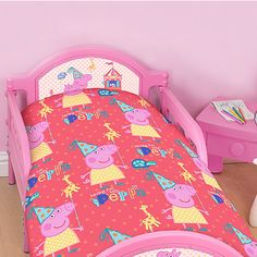 Pink Peppa Pig Toddler Duvet Set from our friends at Asda