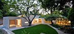 Midcentury Modern Home Remodel at Twilight Home Glowing, Gardenista